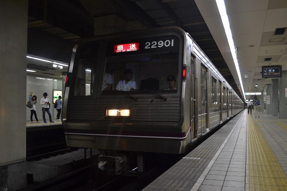 【谷町線】22601F(22系第1編成) 大日→森之宮検車場へ回送