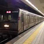 【谷町線】22602F(22系第2編成)森之宮検車場へ入場