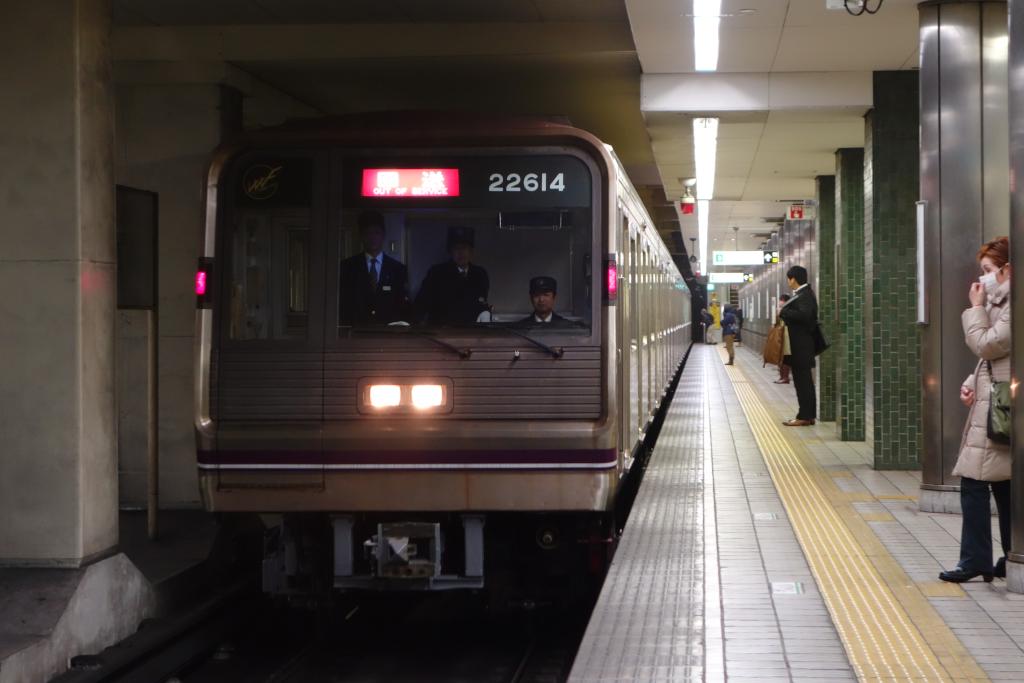 【谷町線】22614F(22系14編成)が定期検査・試運転