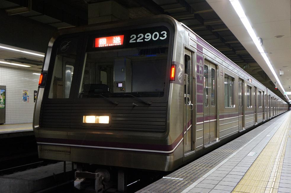 【谷町線】22603F(22系3編成)が定期検査入場