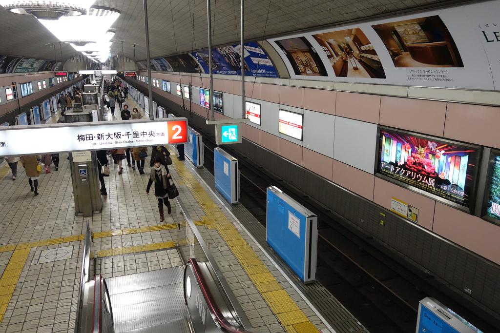 【御堂筋線】心斎橋駅2番線にホームドア(可動式ホーム柵)を設置