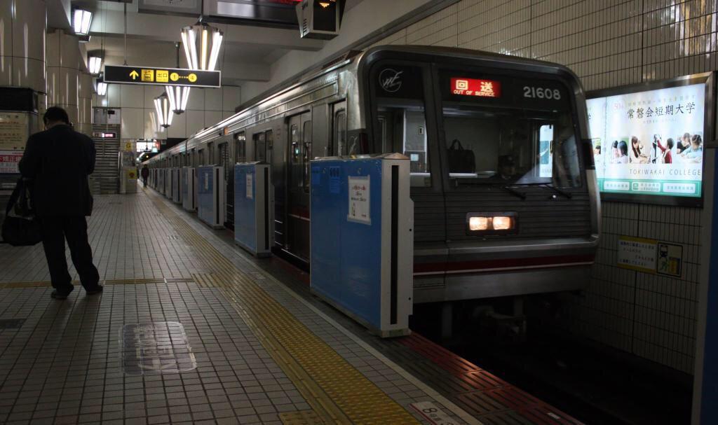 【御堂筋線】21608F(21系8編成)緑木検車場へ入場