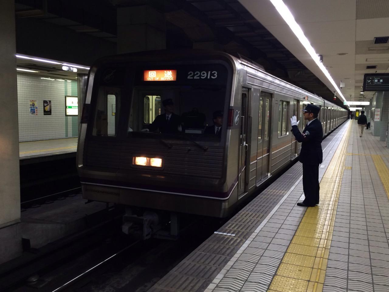 【谷町線】22613F(22系13編成)が森ノ宮検車場へ