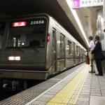 【谷町線】22658F(22系58編成)が森ノ宮検車場へ入場