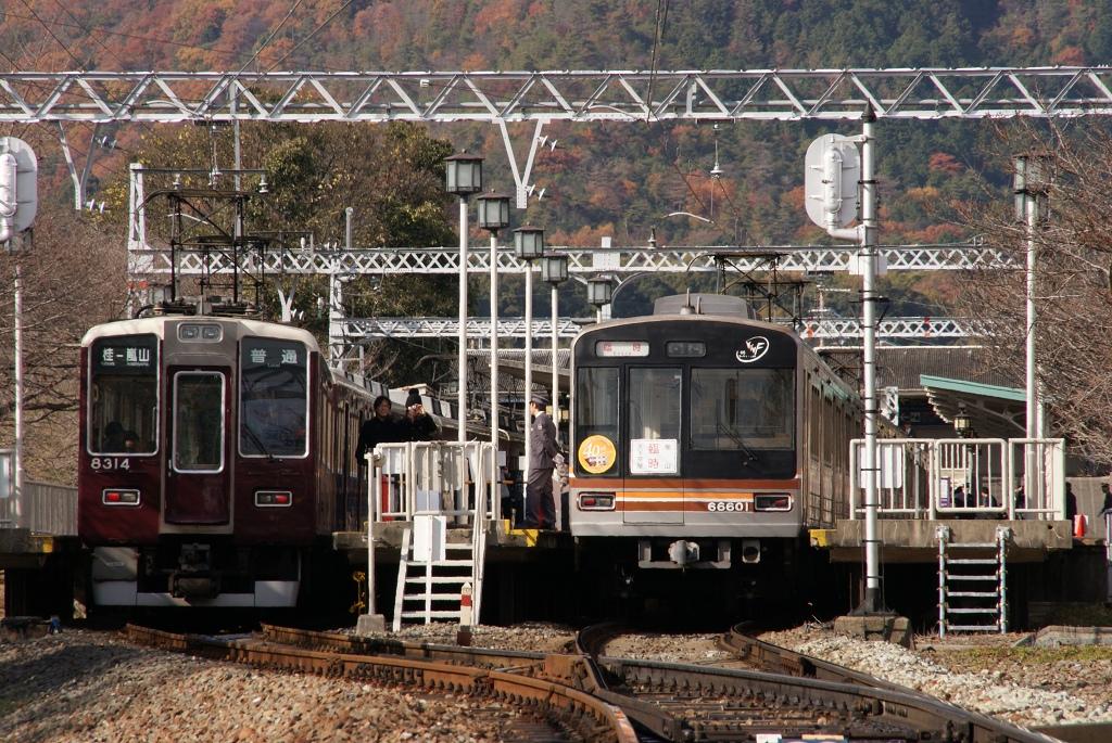【超速報】直通50周年を記念して堺筋線66系が桂へ!記念ヘッドマーク等も