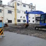 売却されて整備中の旧東深江操車場にいってきました