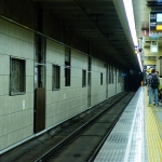 【堺筋線】北浜駅がリニューアル工事中…新しい壁面がお目見え