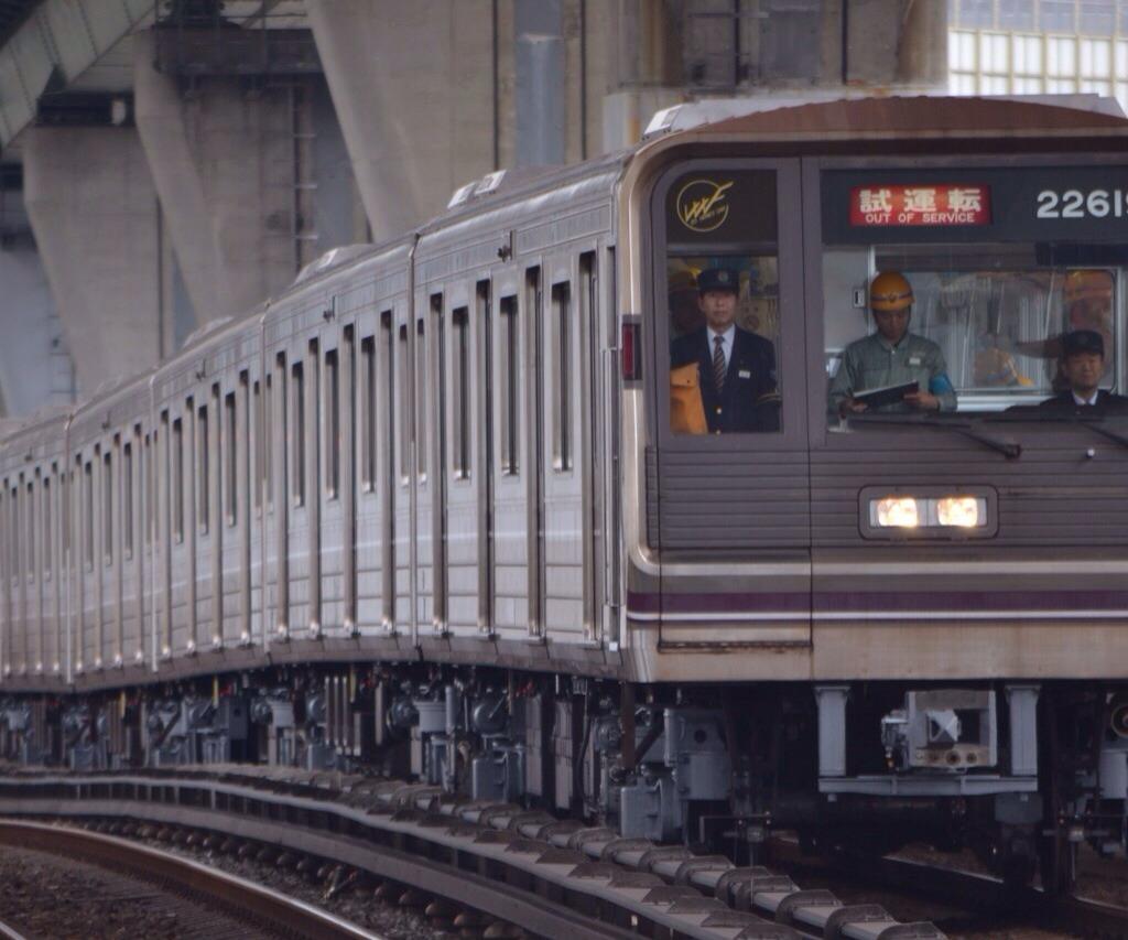 【谷町線】22619F(22系19編成)定期試運転