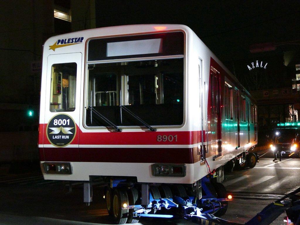 【北急】8901号車が廃車搬出…8001は保存か?