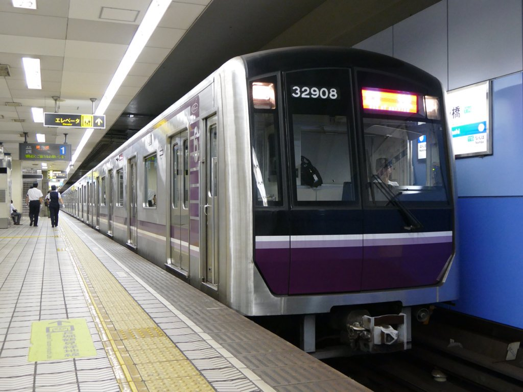 【谷町線】32608Fが史上初の四つ橋線入線!