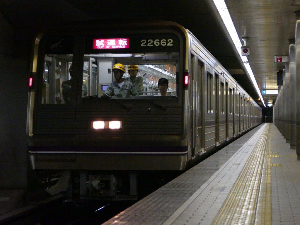 【谷町線】元OTS系の22662Fが四つ橋線内で試運転!