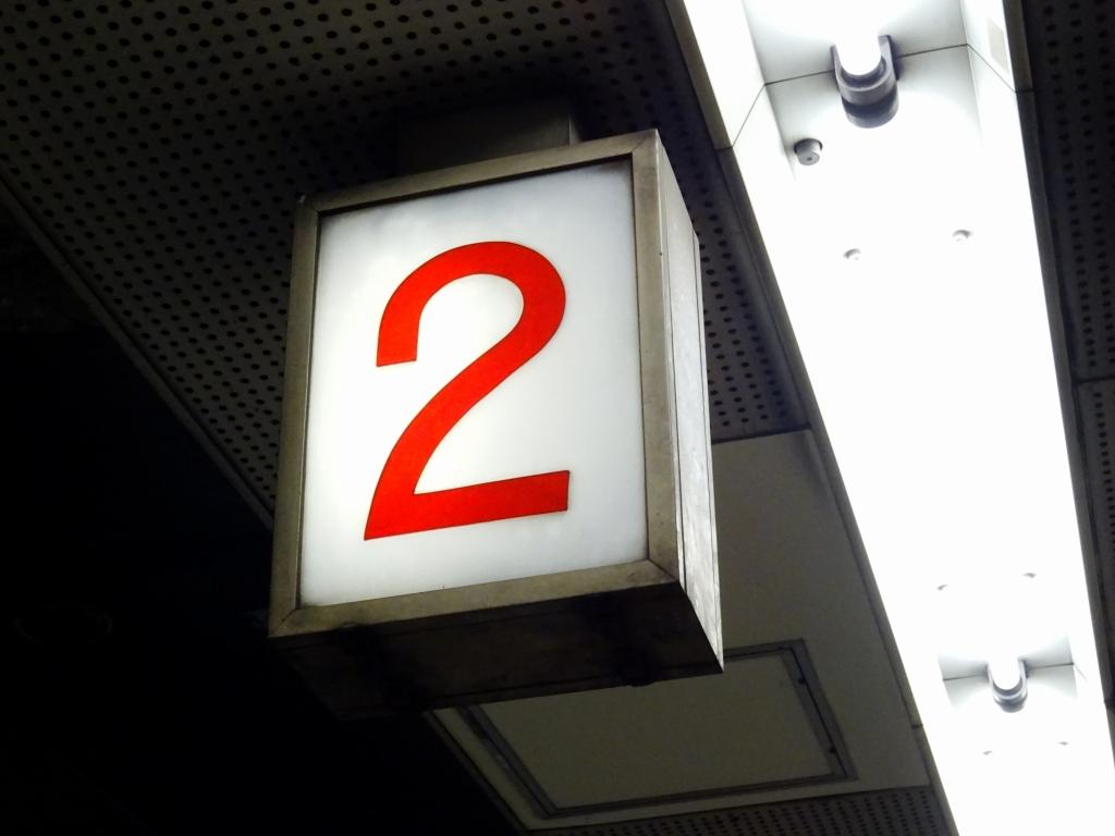 【堺筋線】開業当時から48年…見守り続ける長堀橋駅の番線表示