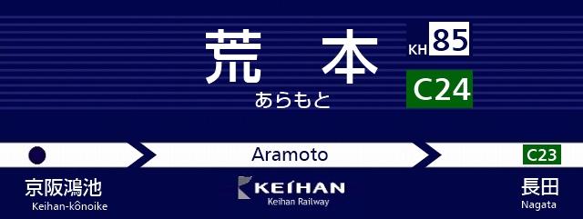 京阪 新サインシステム 駅名標 大阪市営地下鉄 中央線