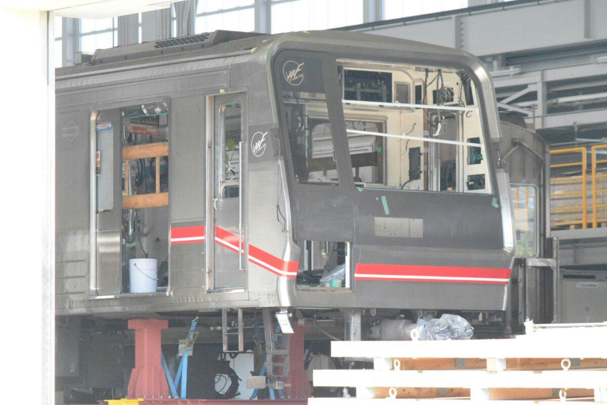 【御堂筋線】21609F、なんと緑木検車場内でリニューアル工事中?