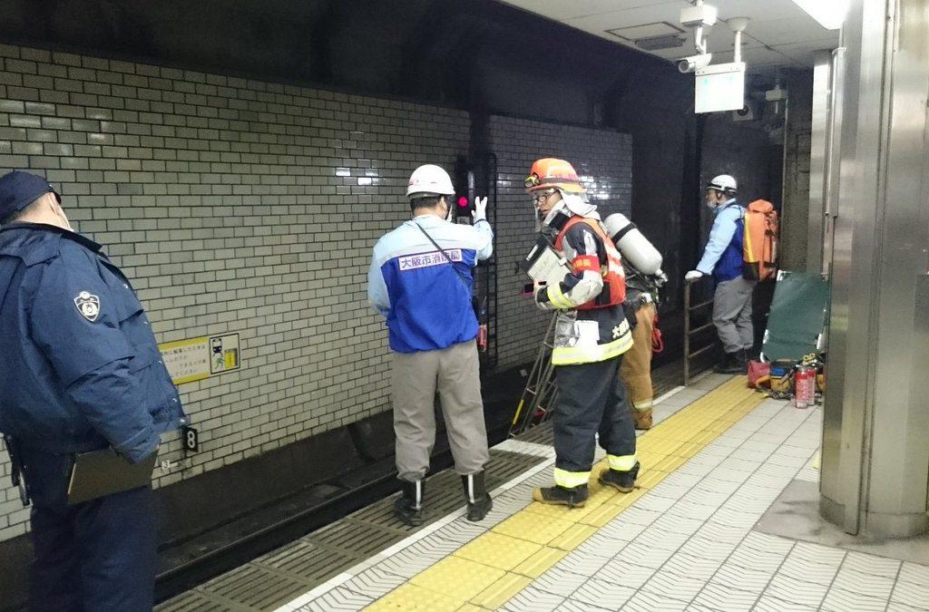 【堺筋線】天神橋筋六丁目駅にて発煙事故が発生。線路から煙か