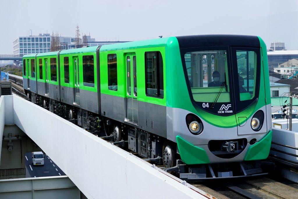 ニュートラム 新型 緑色