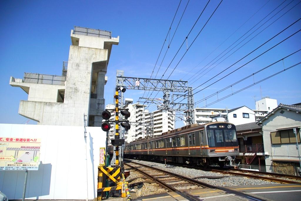 【堺筋線・阪急】淡路駅周辺の高架化工事状況を見てきました