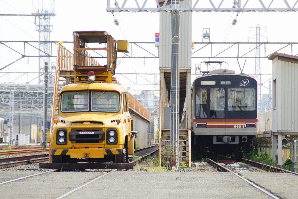 東吹田検車場で活躍していた、レトロトラック(日産680型)を見てきました