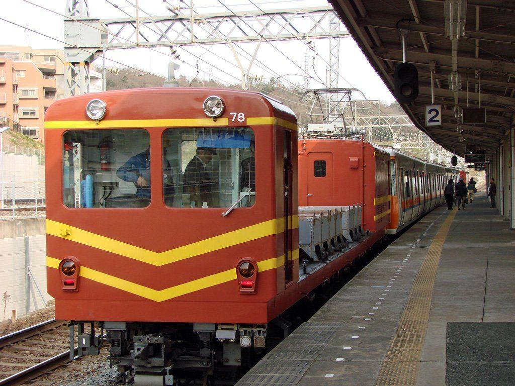 日本で唯一の第三軌条⇔架線の連絡線を見てきました