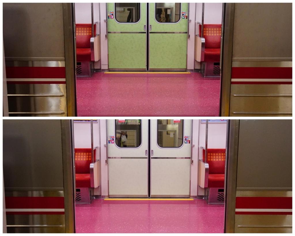 【御堂筋線】サラミ電車のドギツい配色がやや薄まる…21611Fから順次適用か