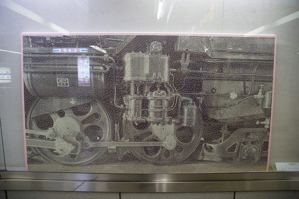 【四つ橋線】西梅田駅にまたもや「切符パンチアート」が登場