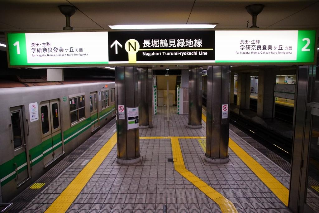 【中央線】森ノ宮駅のサインシステム交換進捗状況…新サインだけ採用、筐体は更新されず