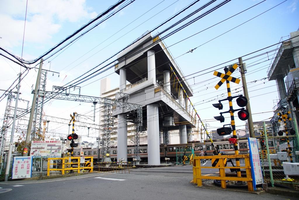 【2017/11】淡路駅周辺の高架化工事状況を見てきました