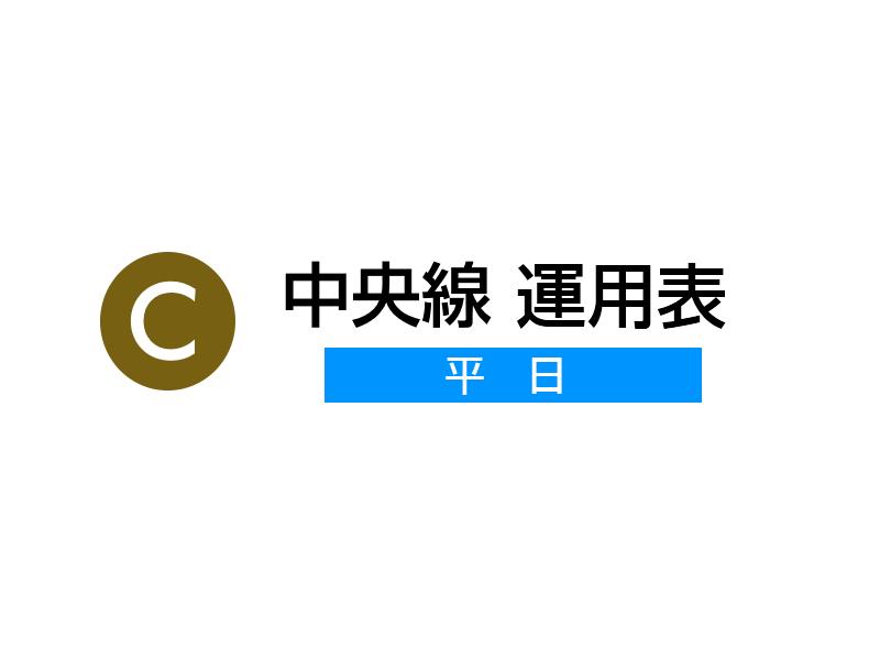 中央線 運用表(平日) 2018年(平成30年)3月24日改正版