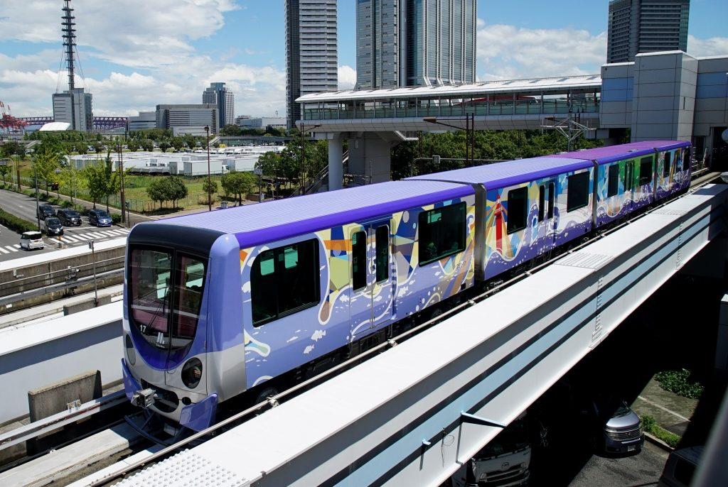 【ニュートラム】大阪総合デザイン専門学校によってラッピングされた200系17編成が営業開始!
