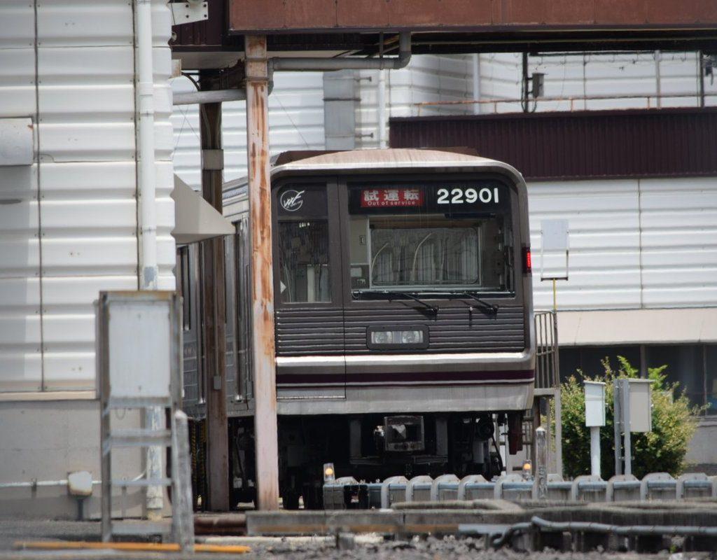 【谷町線】22系01編成(22601F)が出場・試運転を実施