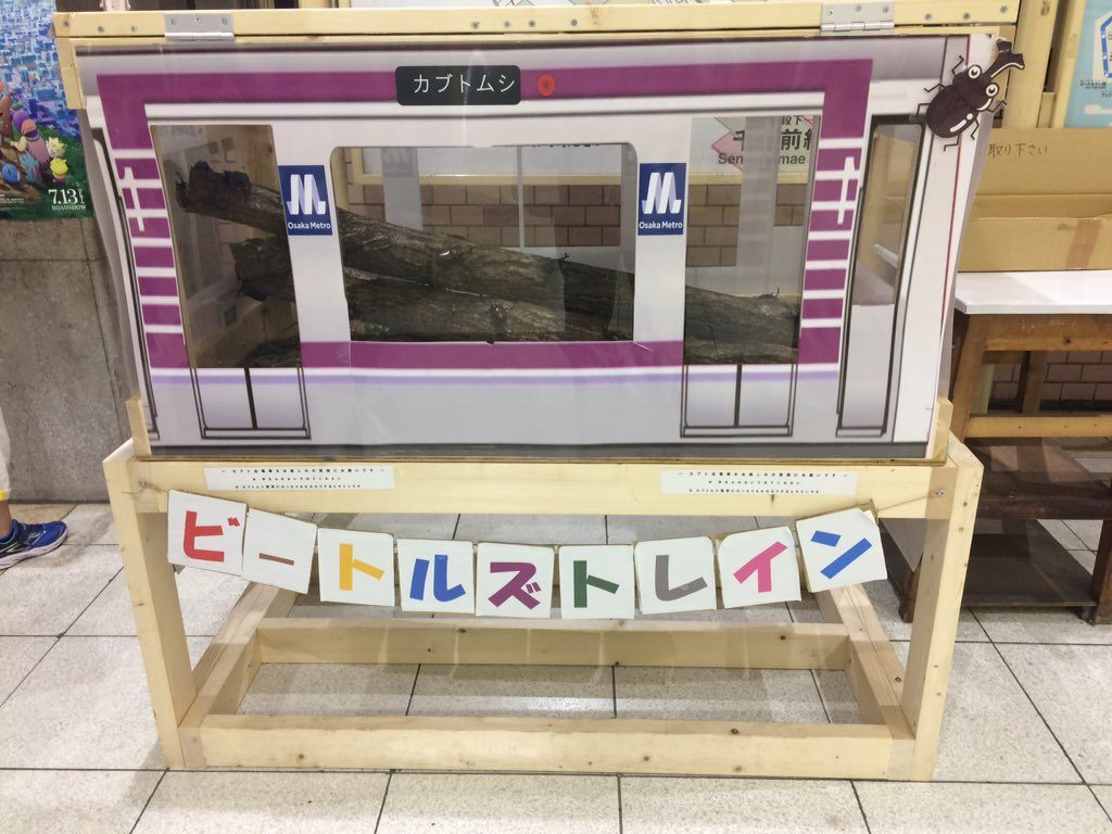 【谷町線】カブトムシを展示する「ビートルズトレイン」を谷町九丁目駅で開催