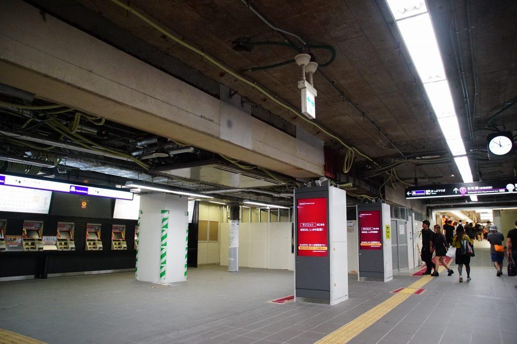【御堂筋線】梅田駅北改札がリニューアル工事中…2018年10月まで