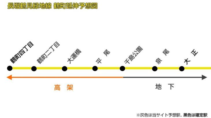 【大阪メトロ 延伸データベース】長堀鶴見緑地線 大正~鶴町