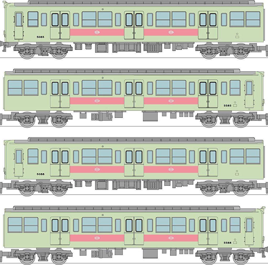 【千日前線】鉄道コレクション 50系5085編成が8月に発売!千日前線のフルNゲージ製品は初?