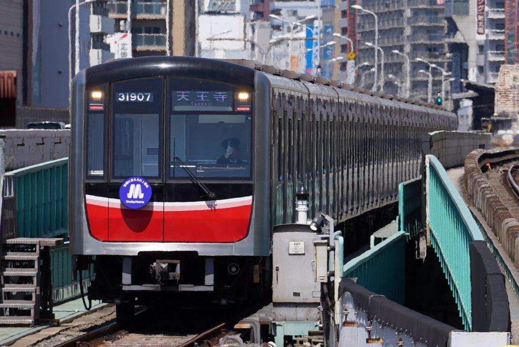 【御堂筋線】30000系に付けられた「Osaka Metro 1周年ヘッドマーク」を撮影してきました