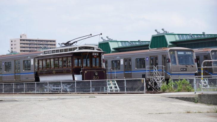 「Osaka Metroフェスティバル2019(緑木検車場公開)」を開催!今年は100年前の路面電車が走れるようになって復活!