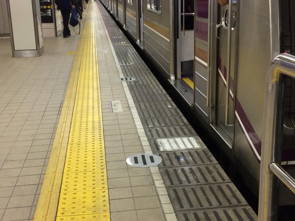 【谷町線】東梅田駅、ホームドアの基礎工事開始…2020年2月に完成へ