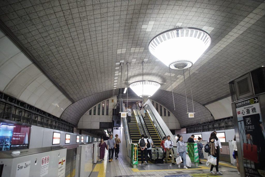 【2019.10】工事開始から1年8ヶ月!御堂筋線心斎橋駅グランドリニューアルの状況