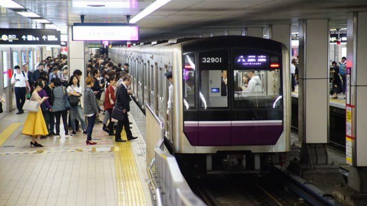 【谷町線・堺筋線】東梅田、堺筋本町両駅にてホームドア工事が進む…2020年2月完成予定
