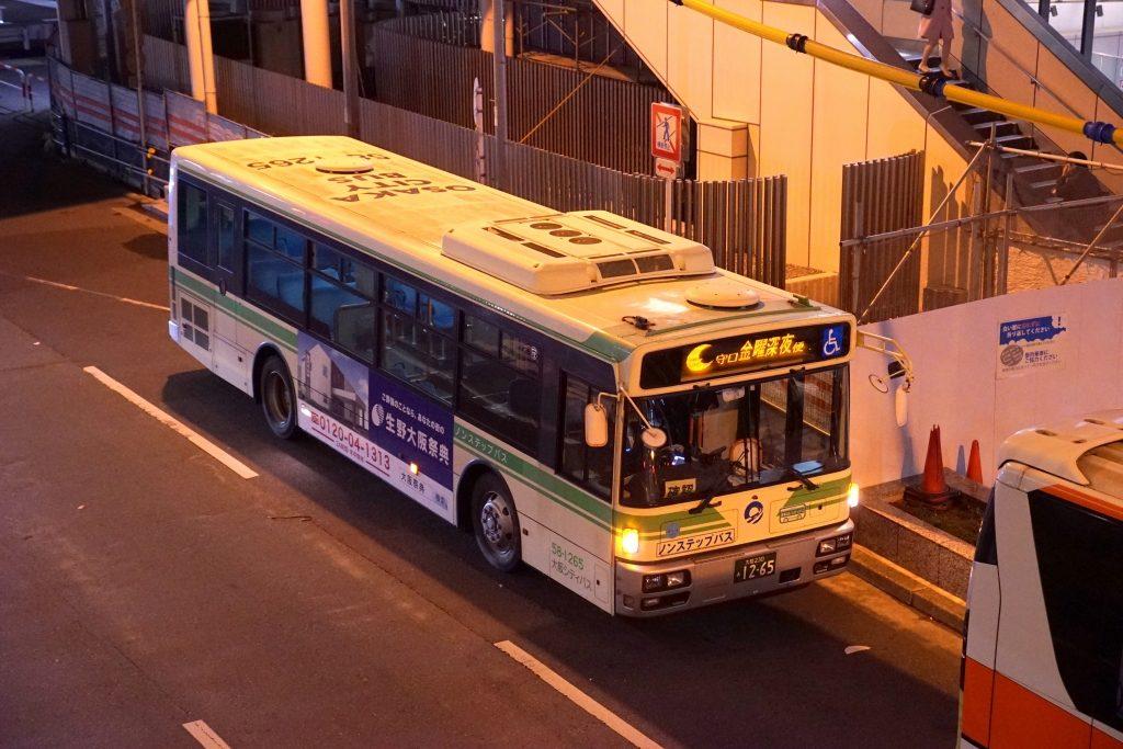 【大阪シティバス】初の深夜バス「守口金曜深夜便」が試験運行開始!運賃は420円、前乗り式