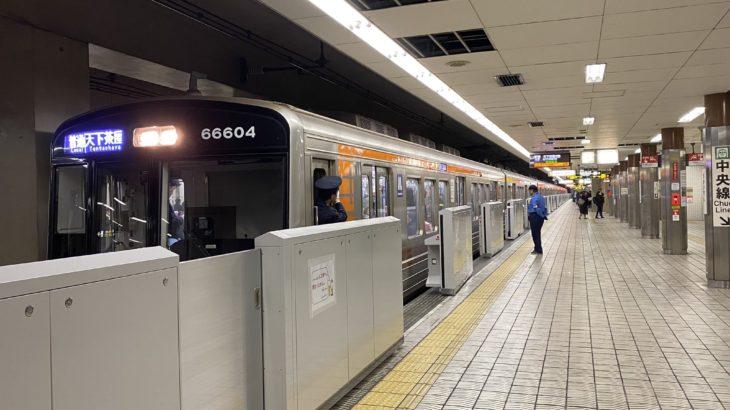【堺筋線】堺筋本町駅1番線にホームドア設置開始!