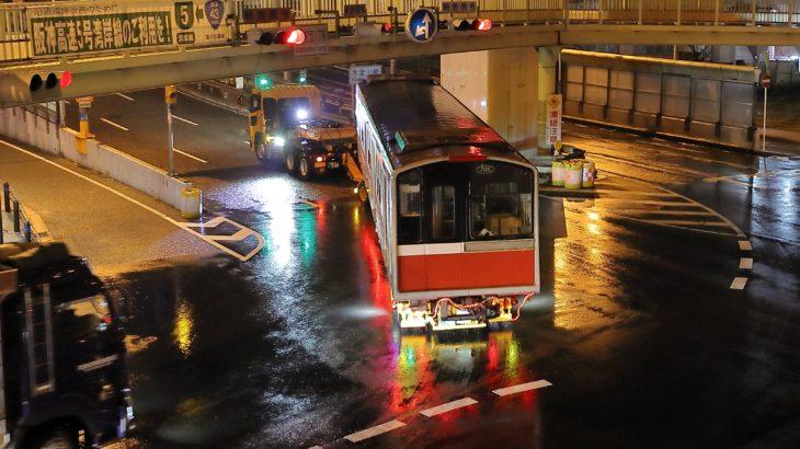 【廃車速報】御堂筋線10系12編成(1112F)トレーラー陸送 廃車搬出