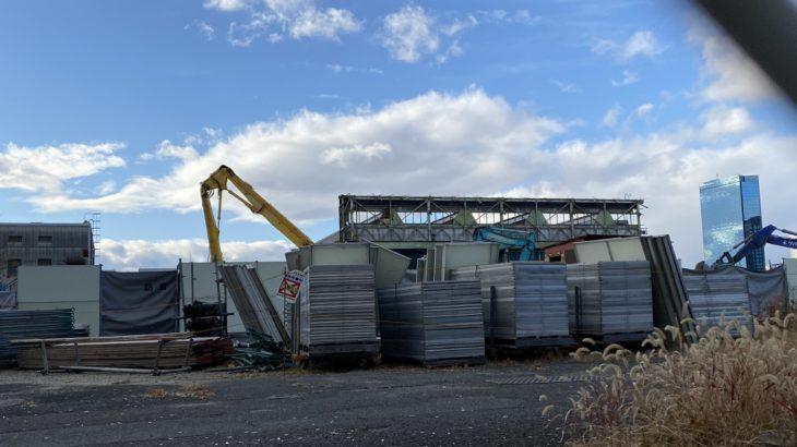 森之宮検車場車両工場、建物の解体完了