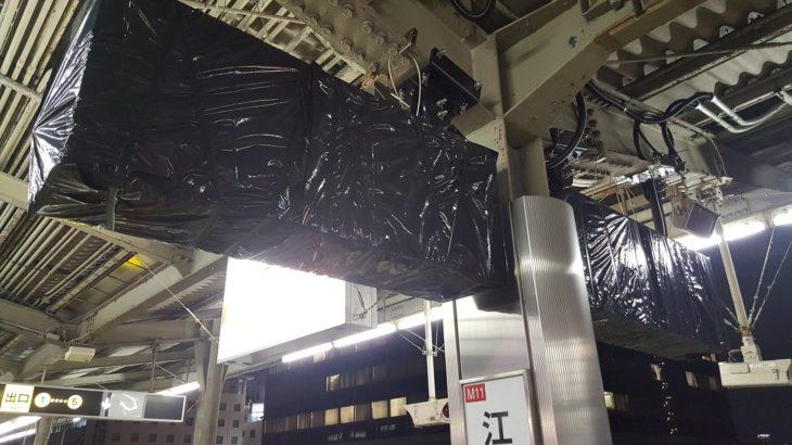 【速報】22年ぶりの新しい発車標(行先表示装置)が登場!?江坂駅に謎の筐体が出現