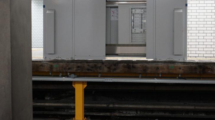 昭和町駅、9駅目のホームドア設置開始。今回はいつもと違う工事内容に