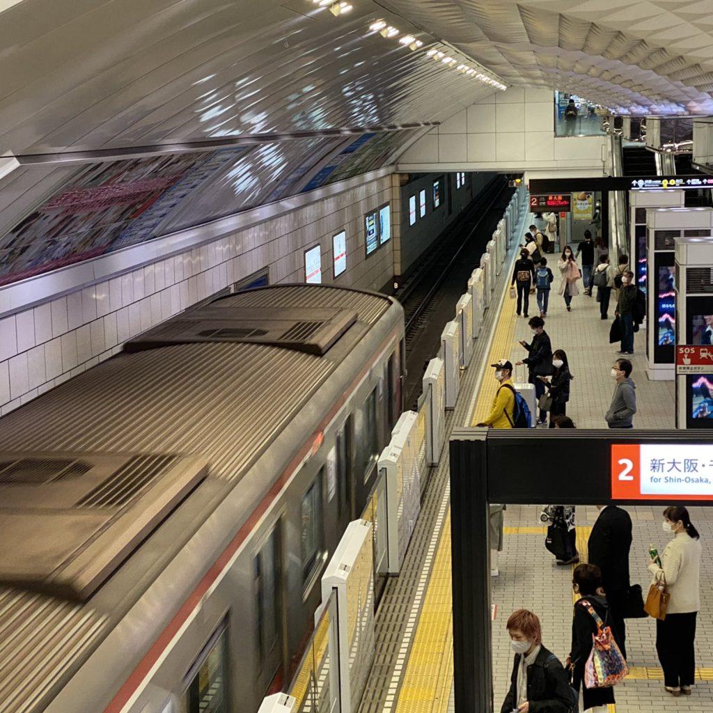 【御堂筋線】梅田駅のホームドア、使用開始!