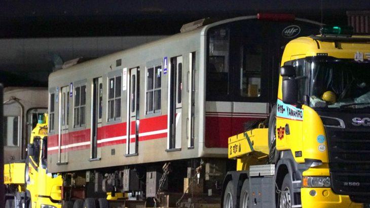 【廃車速報】3本目の廃車…10A系20編成(1120F)が陸送搬出