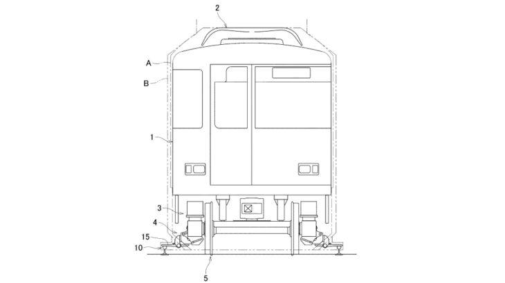 近畿車輛が第三軌条用「集電靴収納装置」の特許を申請中。けいはんな線⇔奈良線直通特急へ使用?